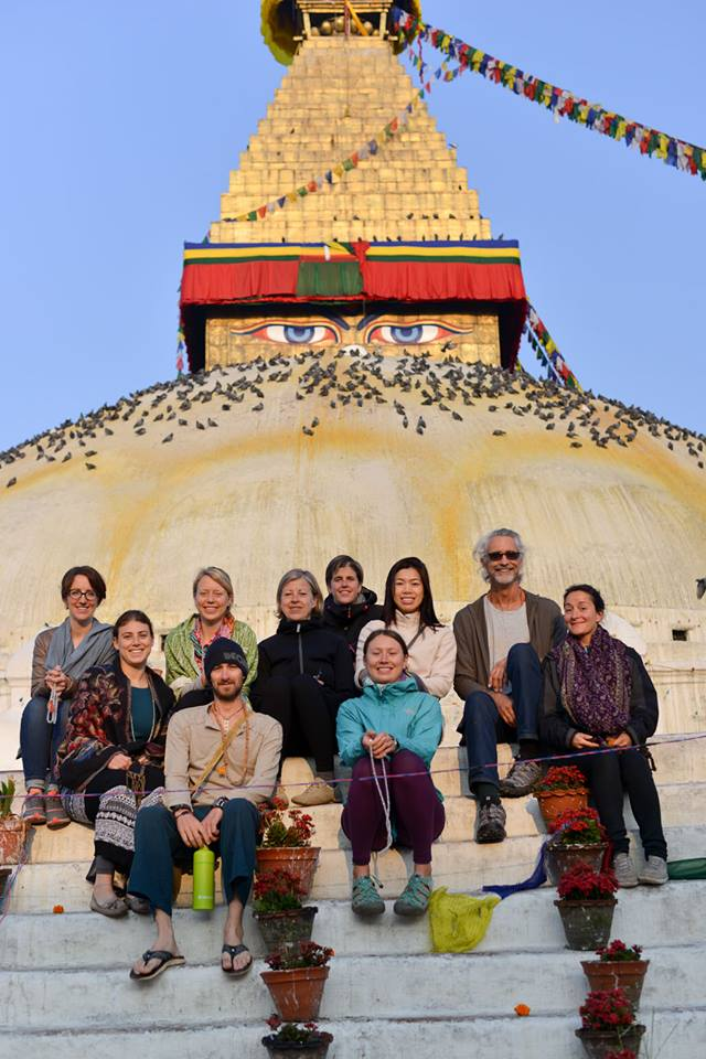 Yoga teacher training graduates in Nepal