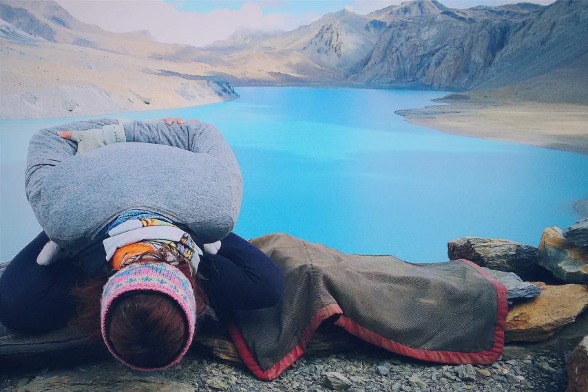 Lizzie Hacker gratitude for nature on yoga retreat in Nepal