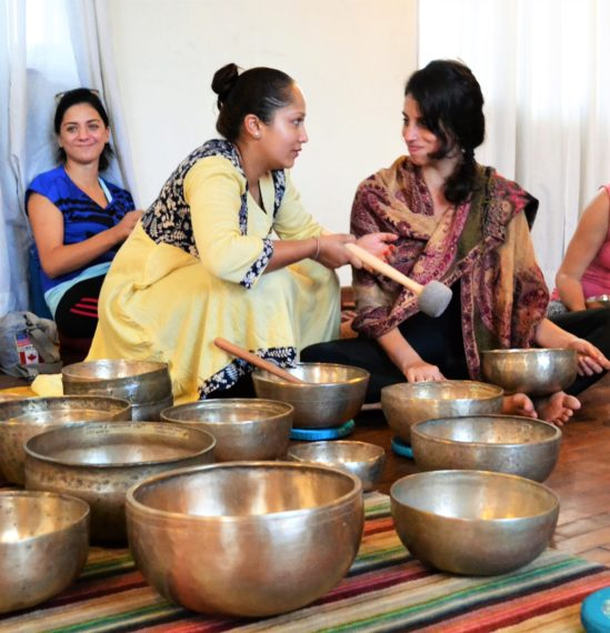 Singing bowl course during yoga ttc nepal