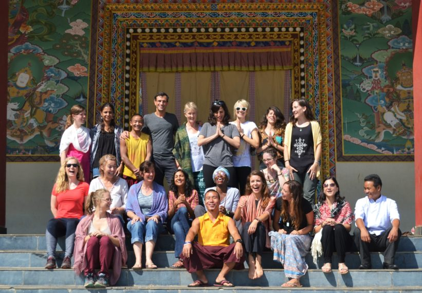 Group at Doron yoga teacher training nepal