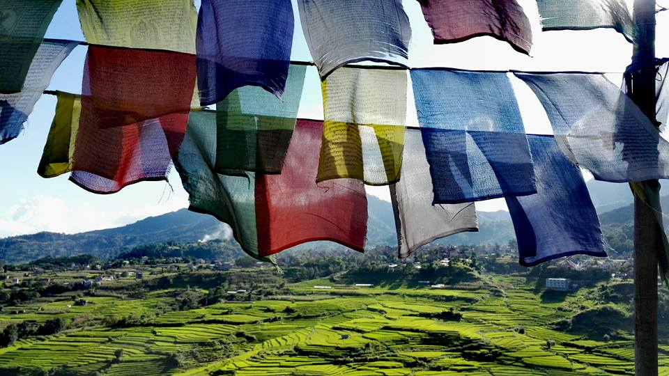 pharping-with-the-prayer-flags